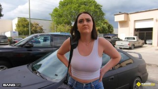 Roadside - Natural Busty Teen Fucks Her Car Mechanic
