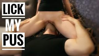 Face grinding till strong orgasm