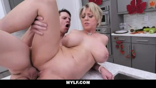 MYLF - Blonde Mature Milf Gets Her Big Tits Fucked