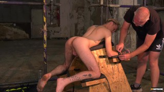 Master Sebastian Kane restrains slender twink and fingers ass