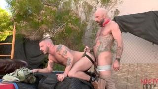 Drew Sebastian unloads in Sean Harding's wrecked hole