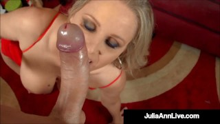 Milk & Cookies? Try Milk & Cock! Milf Julia Ann Blows Santa!