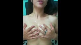 Sweet oil boobs