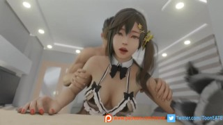 Misaki I can't clean up if you ... | Dead Or Alive Venus Vacation DOAXVV |