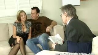 Cuckold Fantasies 1 Harmony Rose cuckolds her husband creampie eating sissy