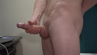 SOLO JERK OFF BIG WHITE DICK - HANDSOME HORNY TEEN INTENSE CUMSHOT