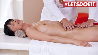 RelaXXXed - Hot MILF Oiled And Rough SEX with Masseur - LETSDOEIT