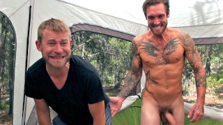 Do I Still Have Cum On My Face? - Camping Trip Leads to Cum Swallowing