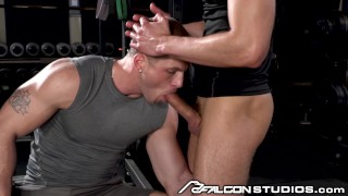 FalconStudios - Roman Todd Face Fucked On Workout Bench