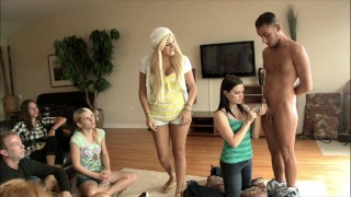 BRANDI BELLE - Group Of Girls Learn How To Suck Dick And Get Some Practice