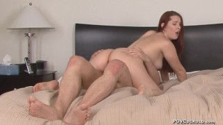 POV Cuckold 30 Redhead Melody Jordan cuckolds her husband creampie eating