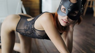 SUBMISSIVE CUTE KITTEN knows how to use USE HER TONGUE. ASS WORSHIPING.