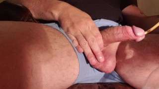Extreme catheter insertion into my shaved cock, pissing in a bottle