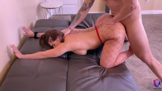 Submissive thick ass girlfriend gets a rough anal fuck on Valentine's Day