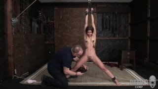 Sexy Latina Submits to Stretching and Orgasms.