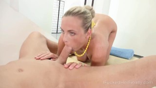 I Fucked Her Finally - Sweetie gets orgasm at massage session