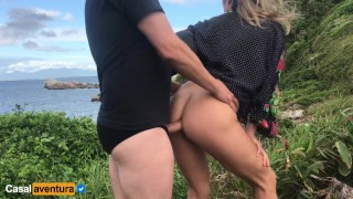 Anal on paradise island - we got caught! Real amateur