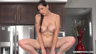 Solo chick, Lilian Stone is riding a huge dildo, in 4K