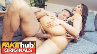 FAKE FANTASY Cheating Husband Unloads 3 Times on Hot Brunette's Pussy