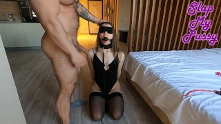 Tortured SEX SLAVE while wife at work. BDSM, Anal, Spanking, Facefuck