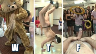 DANCING BEAR - The Bridge To Be And Her Slutty Friends At CFNM Blowbang