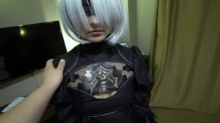 2B Nier Automata porn cosplay, part 1