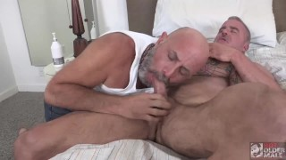 Silver Daddy Dale Savage Fucked with Giant Dildo and Hot Daddy Cock