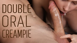 Huge DOUBLE Oral Creampie After 2 Weeks of Abstinence
