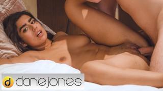 Dane Jones All natural Pakistani girl Aaeysha takes big dick in hairy pussy