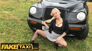 Fake Taxi Short blonde MILF fucked hard on the backseat of taxi
