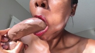 POV HARDCORE ROLEPLAY SLOPPY DILDO SUCKING, OILY RIDING, AND DIRTY TALK
