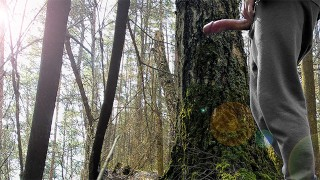 ON THE WAY TO SCHOOL, BOY MASTURBATE IN THE FOREST FOR HIS SUBSCRIBERS