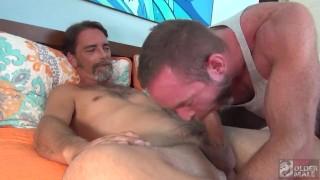 Silver Daddy Hunks have a Raw Fuck Session.