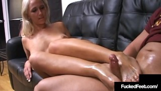Sexy Philly Stripper Candy Uses Size 8 Feet To Milk Cock!