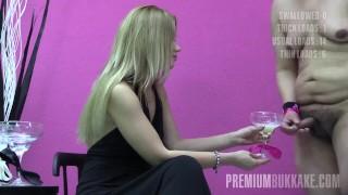 Premium Bukkake - Eva swallows 71 huge mouthful cumshots