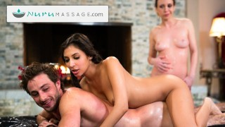 NuruMassage Gianna Dior Convinces Her Friends To Have A Threesome Massage