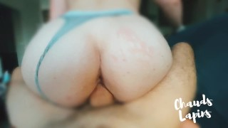 I suck him like a slut before he fucks my ass