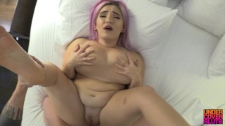 Busty Lesbian Step-Daughter Learns Dick Pt 4