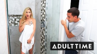Caught Fapping - My Step-Bro Walked in on Me in the Shower!