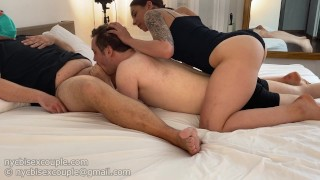 making my boyfriend to suck this strangers cock for me