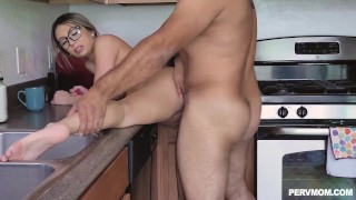 Kat Dior Big Tit MILFs Sucking Cock And Slobbers Her Stepsons Cock