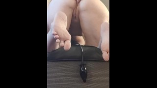 Trying to gape and fist my ass