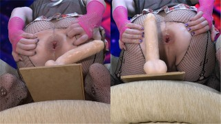 Hot anal sex with deep penetration ( love dildo rides femboy sissy trap )