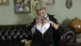 St Mackenzie's - Dolly Plays with Her Bouncy Tits While Stripping Naked