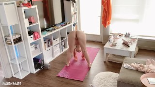 SPYING ON YOUR WIFE DOING NAKED YOGA - INDIGO WHITE