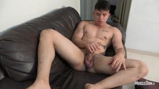Young latino muscle guy big dick blow job
