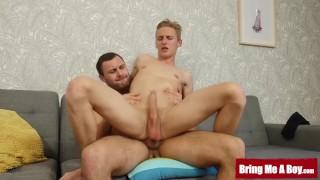 BRINGMEABOY Oliver Morgenson Pops Boner While Raw Riding