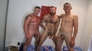 Real Gay Couple Invite Random Aussie Stranger and Both Fuck Him Raw