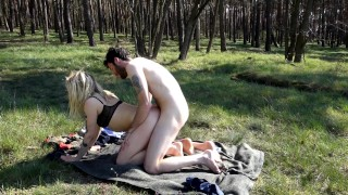 Fucking in the forest - we got caught! Uncut version