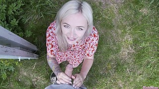 Fucked stepsister outdoors until parents see